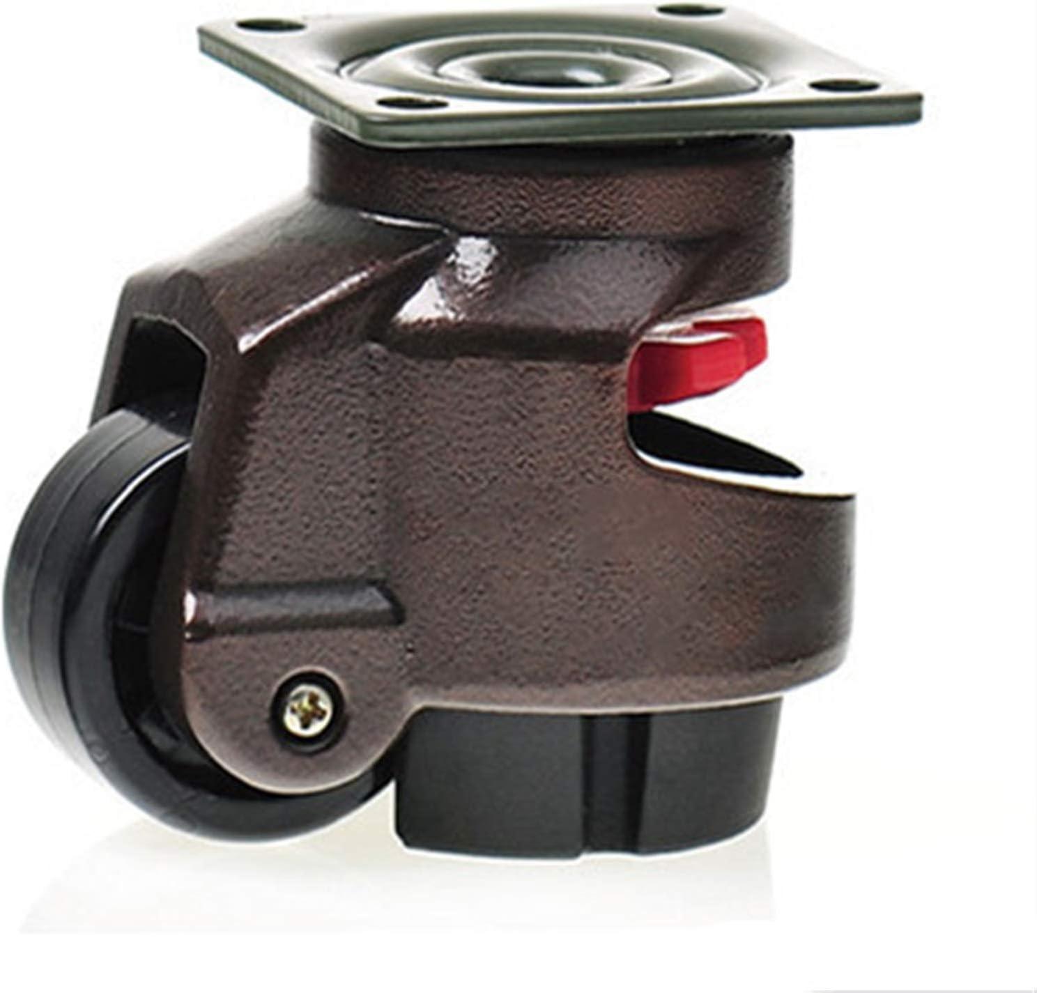 Silenciosas deslizamientos suelos de madera dura GD-40F / 60F / 80F, ruedas de ruedas Rueda de ajuste de nivel de servicio pesado / ruedas, soporte plano, para máquinas expendedoras de equipos grandes