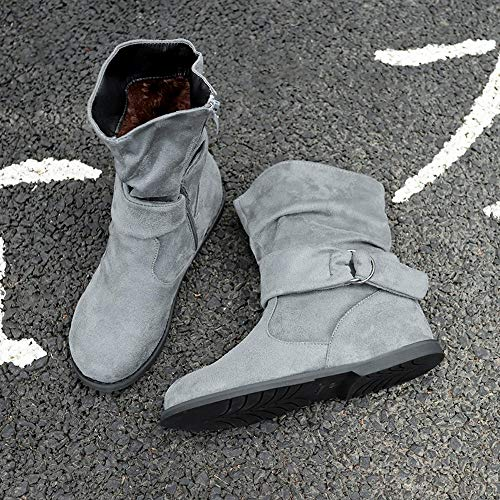 Gris Bottines Set Ecco Comodos Femmes Douces Bottes Alikeey Demi Chaussures Vintage Pieds Style Plates qx6wtwBSOg