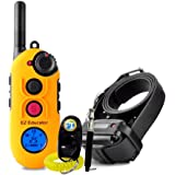 Bundle of 2 items - E-Collar - EZ-900 - 1/2 Mile Remote Waterproof Trainer Easy Educator - Static, Vibration and Sound Stimulation collar with PetsTEK Dog Training Clicker and Dog Whistle Training Kit