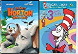 Dr. Seuss Horton Hears A Who + The Cat in the Hat Knows a Lot About That! 3 pack: Ocean Commotion /Surprise Little Guys /Told from the Cold Cartoons DVD Set