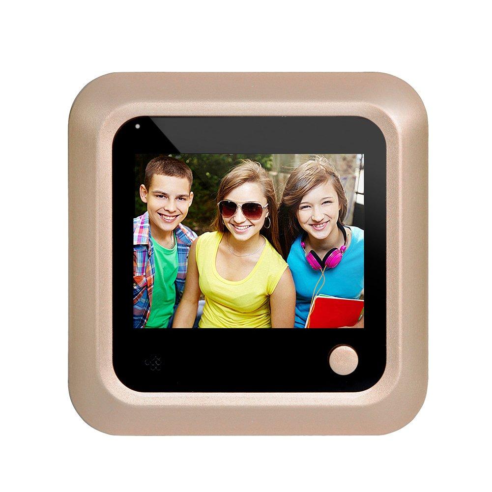 2.4LCD Digital Video Door Viewer Peephole Security Door Monitoreo de c/ámara 115 95 75mmDorado