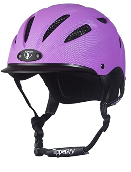 3d67d72746ef2 Tipperary Sportage Western Riding Helmet Low Profile Horse Safety Purple  (XS)