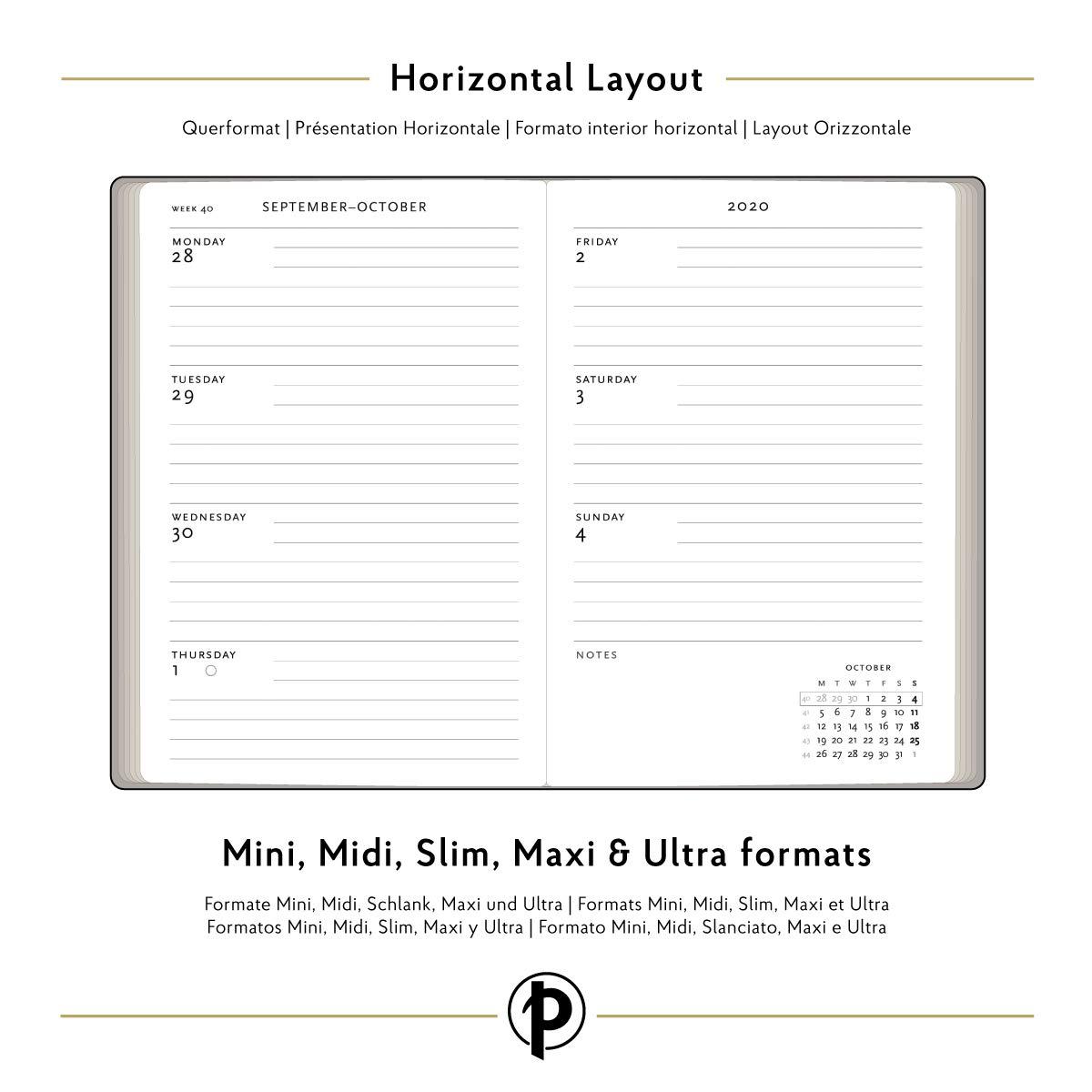 Paperblanks - Agenda de 18 meses y calendario con tapa ...