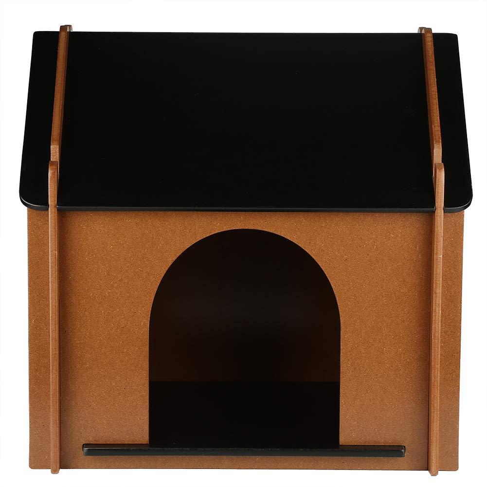 EBTOOLS casa de Madera para Mascotas Perro Gato Desmontable Decorativo caseta de Perro cabaña para Animal doméstico para Interior 51 x 38 x 52 cm: ...