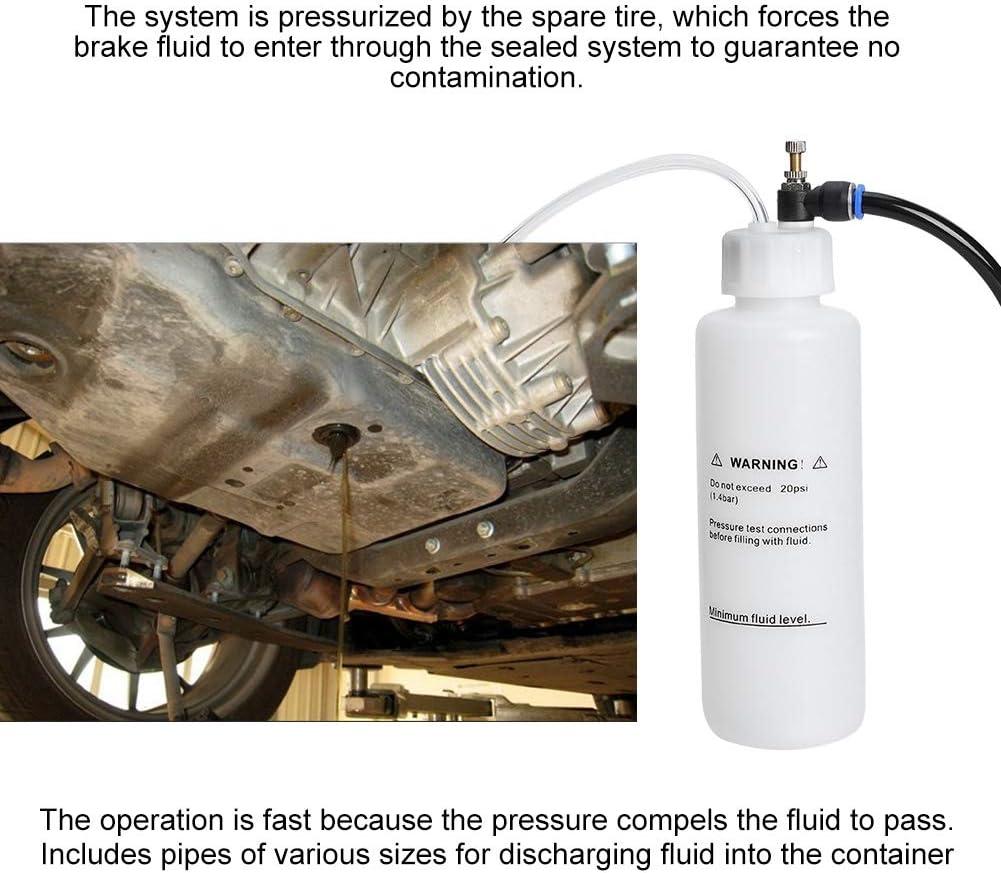 Brake Bleeder,500ml Car Brake Clutch Bleeding Fluid Bleeder Kit Air Powered Vacuum Pump Tool