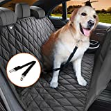 Jomia Car Dog Seat Cover, Pet Car Seat Cover, Dog Hammock for Back seat for Cars, Trucks, and SUVs – Black, 100% Waterproof, Nonslip and Anti-Scratch
