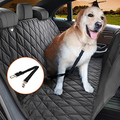 Cheap Jomia Car Dog Seat Cover, Pet Car Seat Cover, Dog Hammock for Back seat for Cars, Trucks, and SUVs – Black, 100% Waterproof, Nonslip and Anti-Scratch