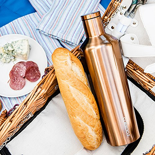 Corkcicle Canteen - Water Bottle and Thermos - Keeps Beverages Cold for Over 25, Hot for Over 12 Hours - Triple Insulated with Shatterproof Stainless Steel Construction - Copper - 25 oz. by Corkcicle