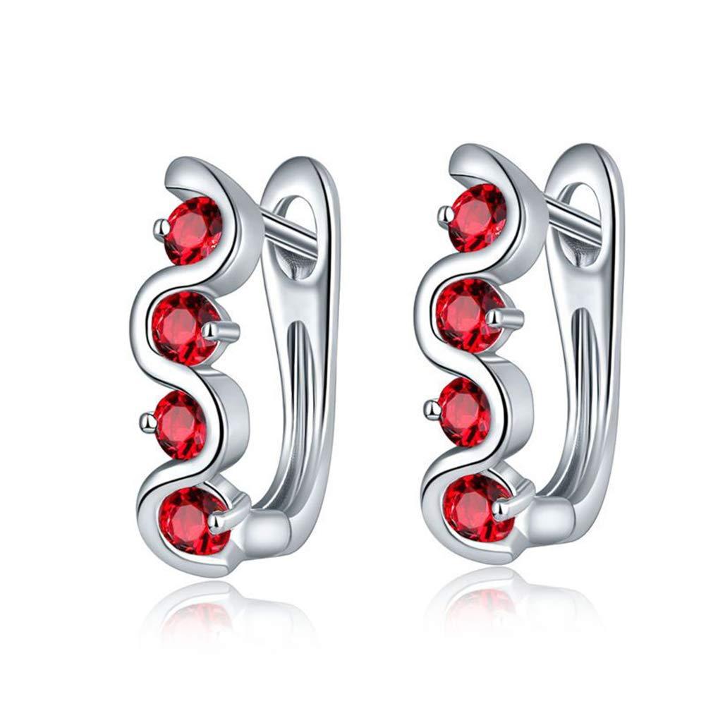 FenyDoller Creative Mosaic Rhinestone S Shape Earrings Popular Zircon Fashion Earring