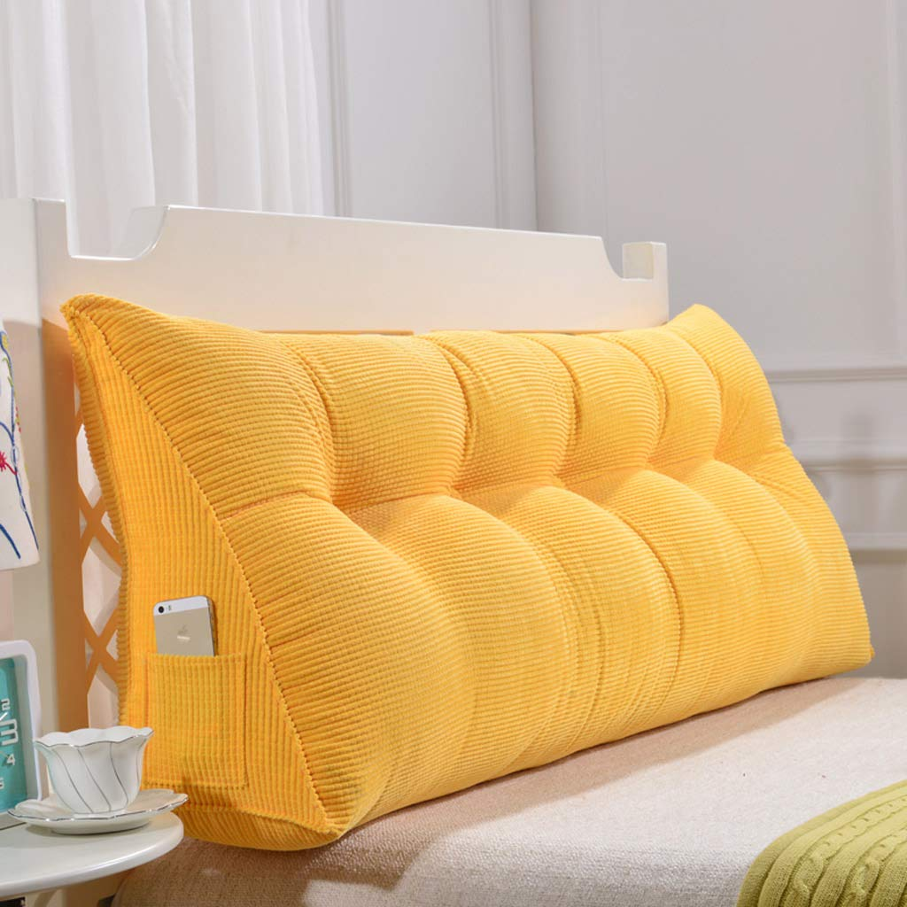 GAOYANG Bedside Triangular Wedge Cushion, Headboard Wedge Pad, Positioning Support Reading Backrest Cushions, A Sofa Bed With A Double Bed With A Pillow. Removable And Washable, 5 Colors, Available In 8 Sizes (200cm)