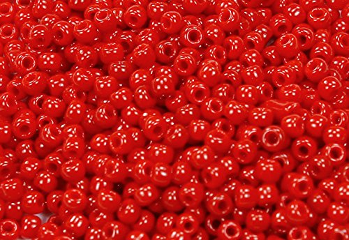 (11/0 Round TOHO Japanese Glass Seed Beads #45-Opaque Pepper Red 15g)