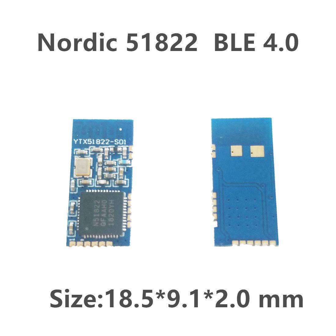 Nordic BLE 4 0 nRF51822 Controller Chip Bluetooth Module Small Size 18 5 x  9 1x 2 0mm 5 Pack