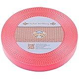 Country Brook Design 1 Inch Pink Heavy Nylon Webbing, 10 Yards