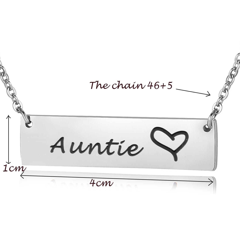 Amazon ENSIANTH Anutie Necklace Aunt Gift Bar From Nephew Niece Birthday For Auntie Jewelry