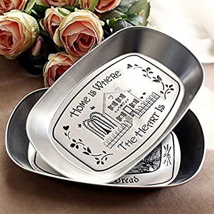 Eaglood 1Piece Bandeja Silver Vintage Iron Plate Storage Tray Fruit Plate Three-Dimensional Tin Plate