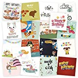 20 Kids Birthday Cards by Kyobo   Assorted birthday cards 20 various designs with envelopes