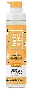 Hello Bello Plant-Based Shampoo And Body Wash - Vanilla Apricot