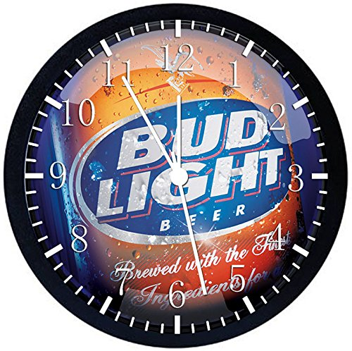 (Bud Light Beer Black Frame Wall Clock Z119 Nice for Gift or Office Home Wall Decor)