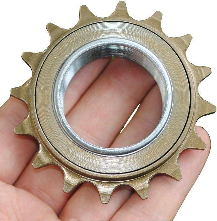 Pignon de Roue Libre pour v/élo /à Une Vitesse Unique 16 Dents 34 mm pour moyeux filet/és