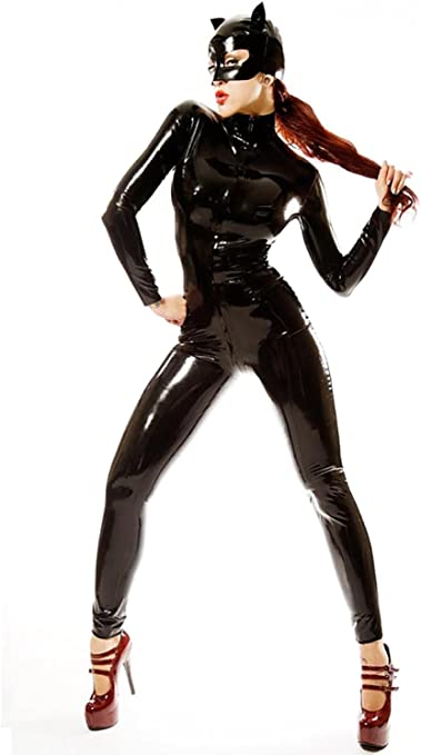 Amazon Com 123456 Yx Women Christmas Halloween Accessory Jumpsuits Catwoman Cosplay Tight Costumes Adult Sports Outdoors