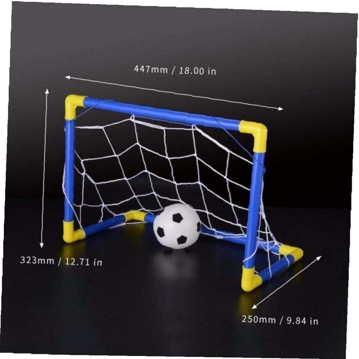 Pump Enfants Sport Jeux dint/érieur Jouets dext/érieur pour Enfants Cadeau danniversaire en Plastique Amoyer Folding Mini Football Ballon de Football Goal Post Filets