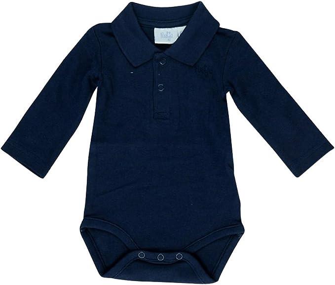 Feetje 502057 - Body para bebé con cuello de polo azul marino 010 ...