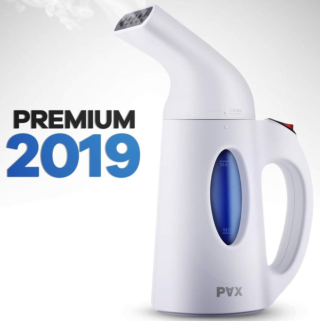 Pax Steamer For Clothes, Travel and Home Handheld Garment Steamer, 60 Seconds Heat-Up, Fabric Steamer With Automatic Shut-off Safety Protection, 140milliliter , White by PAX