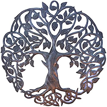Amazon.com: Crossing Trees Metal Wall Art Handmade in Haiti From ...