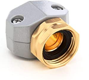 PLG Zinc & Brass Garden Hose Repair Fittings,Female Hose Connector/Replacement/Mender for All 3/4-in or 5/8-in Garden Hose