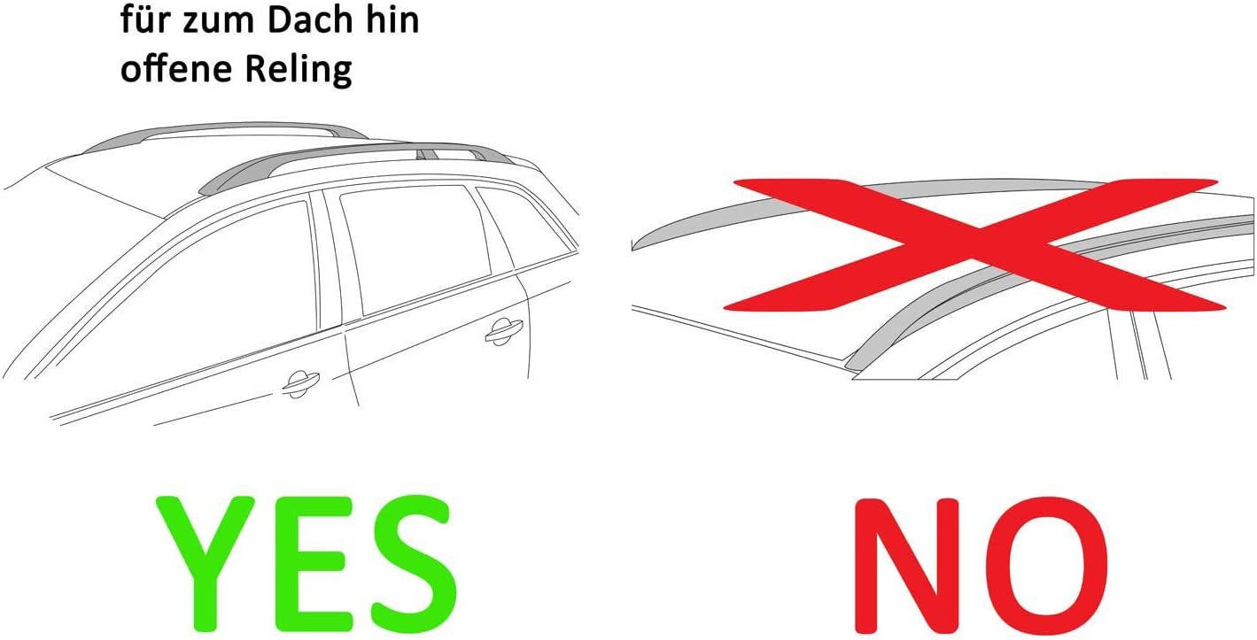 Dachtr/äger Rapid kompatibel mit Dacia Duster 5T/ürer Dachbox VDPBA320 320Ltr carbonlook abschlie/ßbar 08-13
