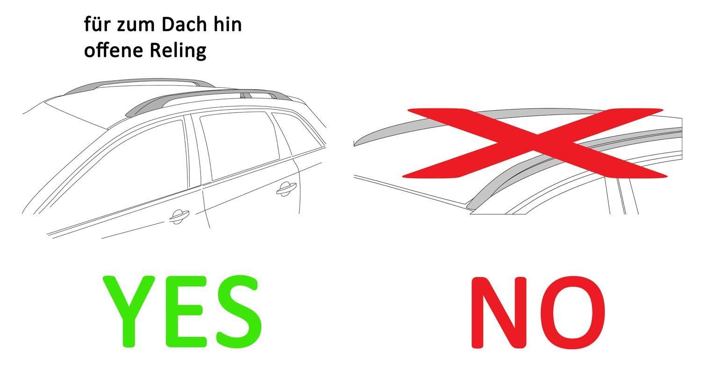X204 Barre Portapacchi VDPLION2 Compatibile con Mercedes GLK a Partire da 12 5 Porte vdp Box da Tetto VDPJUXT500 500 Litri con Serratura Nera