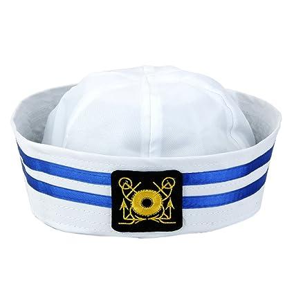 wholesale online get online good selling Chapeau Marin Casquette Marine Rayé Enfants Capitaine de Bateau - Taille  Unique - Carré , L
