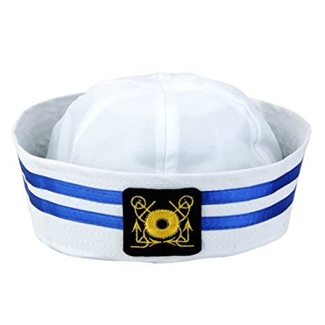 MagiDeal Bambini Capitano Marinaio Protezione del Cappello Marina  Cappellini -  1 5a5df9bf9e7d