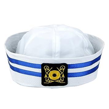 Sombrero De Capitán Casquillo De Marinero Marino Marina Triángulo Militar Unisex Niños: Amazon.es: Juguetes y juegos