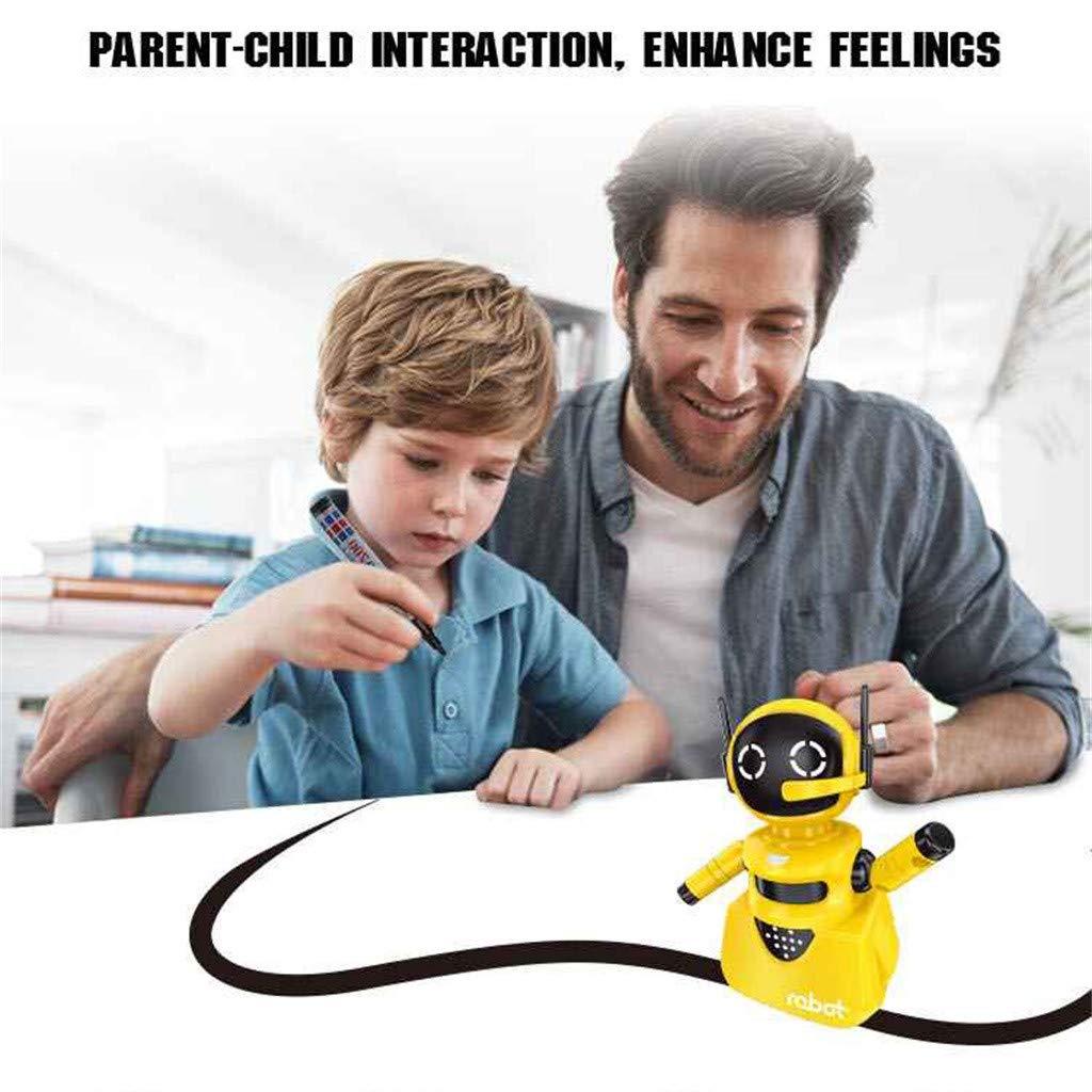 Blanc Robot Jouet pour Enfants,Kolylong Suivez Toute Ligne Dessin/ée Magique Stylo Inductif Robot Mod/èle Enfants Jouet Cadeau pour Gar/çons