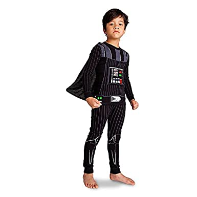 Amazon.com  Disney Little Boys  Deluxe Darth Vader Pajama Set ... fc32e3ab6