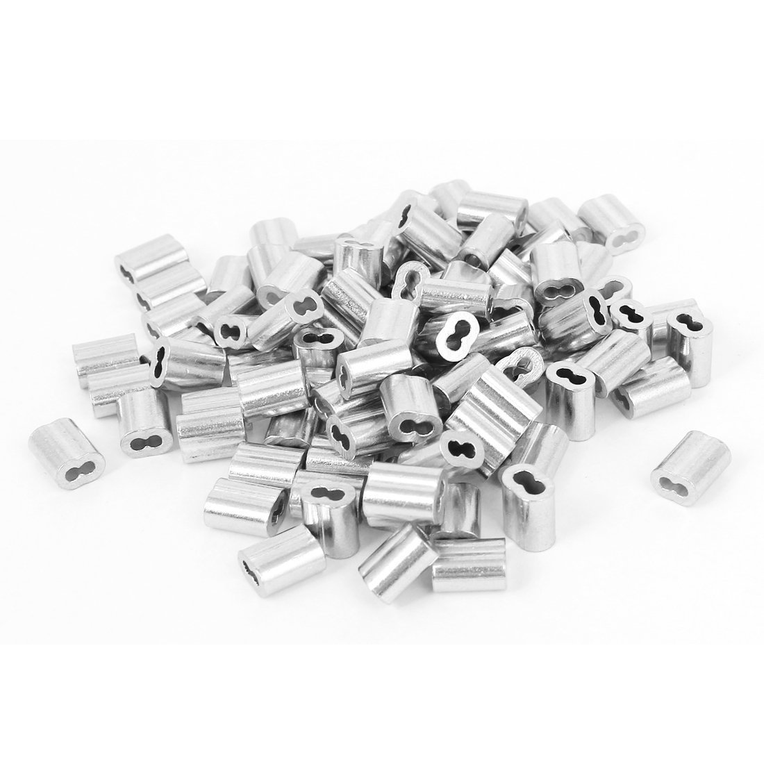 Ohaha 5/64' Wire Rope Aluminum Sleeves Clip Fittings Cable Crimps 120pcs