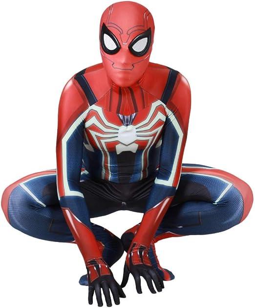 WOLJW Spiderman Disfraz PS4 Spiderman Adulto de Ropa Cosplay del ...