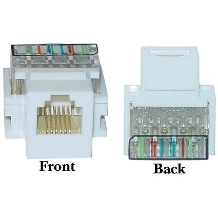Cool Telephone Rj11 Keystone Jack Wiring Basic Electronics Wiring Diagram Wiring 101 Nizathateforg