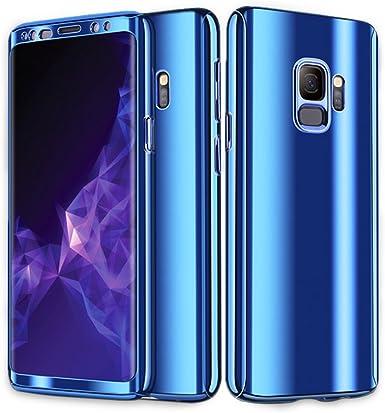 Pacyer Funda compatible Galaxy S9 S8 Plus, Metal Chapado Funda Ultrafino para Espejo Funda Antideslizante Carcasa de galvanoplastia Case Protectora Lujosa de 360 Grados Funda Oro: Amazon.es: Ropa y accesorios