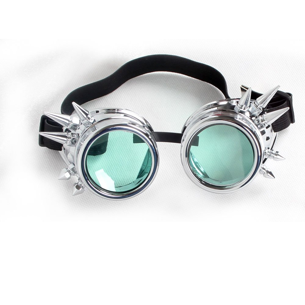Hallowmas Cosplay Goggles, Punk Style Glasses Spiked Steampunk Goggles BEST for Christmas, Festival