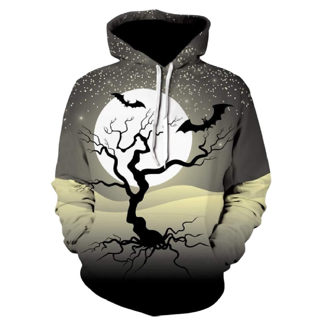 YUNY Women Oversized Halloween Hood Floral Pocket Lounge Sweatshirts Pattern5 2XL