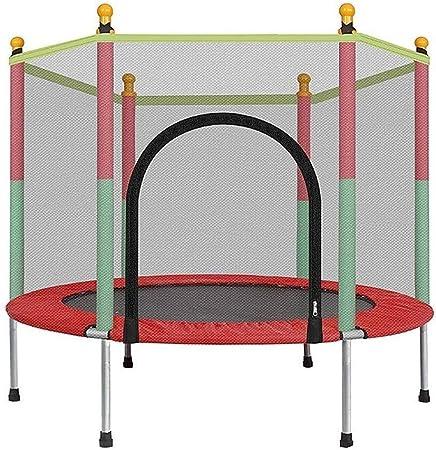 LSYOA 55in Cama elástica Infantil, Trampolín de Jardín con Recinto Interior/ Exterior Reboteadores Trampolín, para niños Niños Los Mejores Regalos de cumpleaños, Carga 270 kg,Red: Amazon.es: Hogar