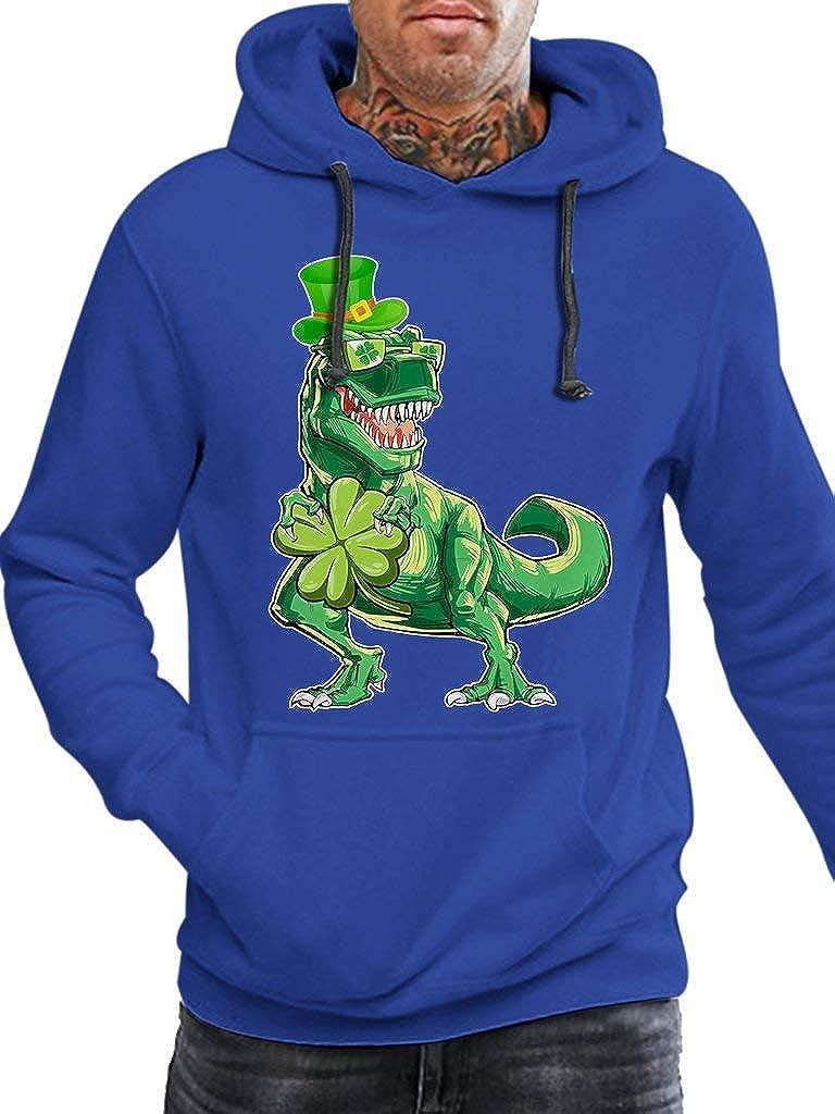 Funny Vintage Trending Awesome Hoodie Irish Leprechaun Dinosaur T Rex