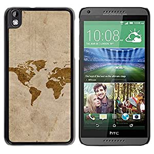 Design for Girls Plastic Cover Case FOR HTC DESIRE 816 Map Art Watercolor Eart Continents America OBBA