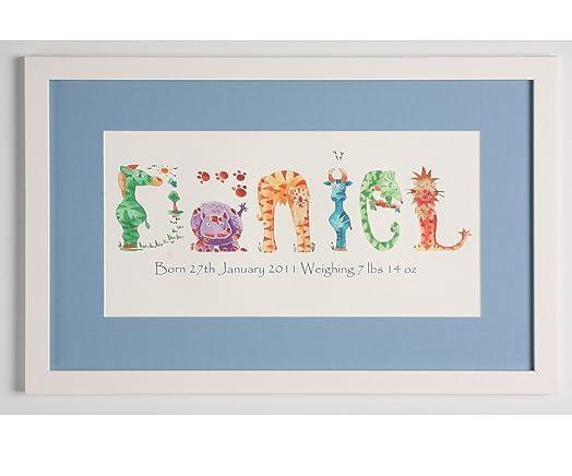 Personalised baby gift christening gift1st birthday gift personalised baby gift christening gift1st birthday gift personalised name picture jungle negle Choice Image