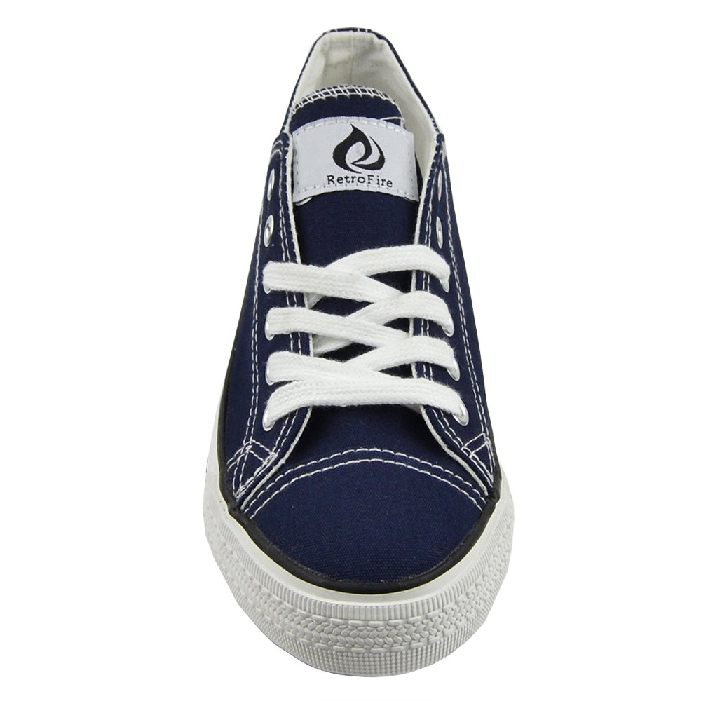 23f2e1fcc1 WIFI By BK Womens Flat Shoes Canvas Lace Up Casual Comfort Shoes Navy SZ 9   Amazon.co.uk  Shoes   Bags