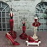 Osier Pricess Model Jewelry Rack Earrings,Bracelets,Necklaces,Rings Display Stands Shoe Hand Hanging Holder Organizer Tower