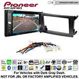 Pioneeer AVIC-6201NEX Double Din Radio Install Kit with GPS Navigation Apple CarPlay Android Auto Fits 2009-2013 Non Amplified Toyota Corolla (Dark Gray)