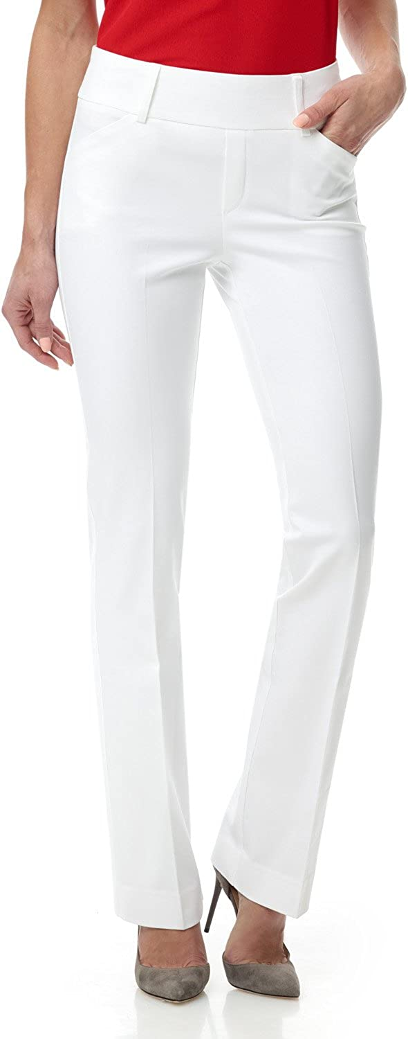 Rekucci Women's Smart Chic Bootcut Pant in Ultimate 4-Way Stretch Cotton